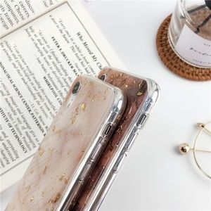 Accessories - NEW iPhone 7/8 Brown and Gold Foil Case